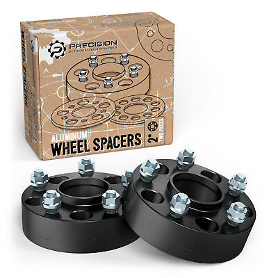 """2"""" 5x4.75 to 5x4.75 Hubcentric Black Wheel Spacers with Lip 