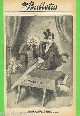 Norman Lindsay Political Cartoon  From The Bulletin  July 18, 1945, Europe