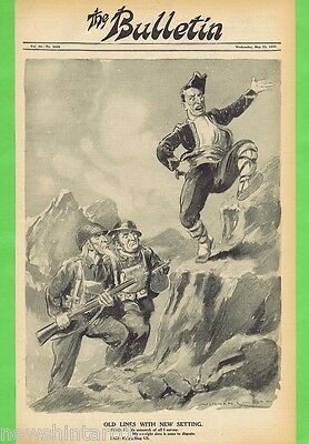 Norman Lindsay Political Cartoon  From The Bulletin  May 23, 1945, Troops