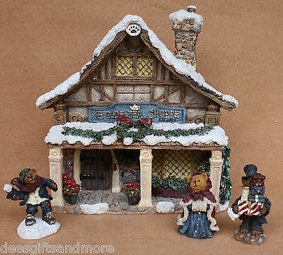 Boyds Bears Resin Dickens Tea Shoppe Fall 2005 RET HTF+