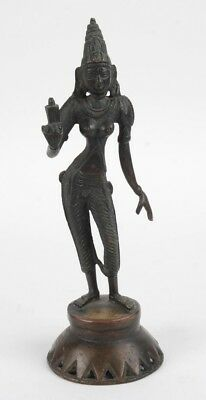 Antique Bronze Figure Of Hindu Goddess Of Fertility Parvati