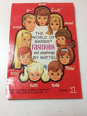 Rare Vintage Mattel Barbie Clothing Accessory Catalog Book 1
