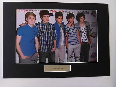 One Direction signed autograph mounted photo