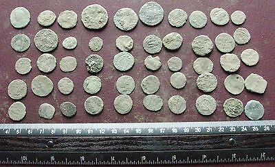 Lot of 50 Authentic Ancient Roman Coins   Mostly 3rd to 5th Centuries A.D. 12411