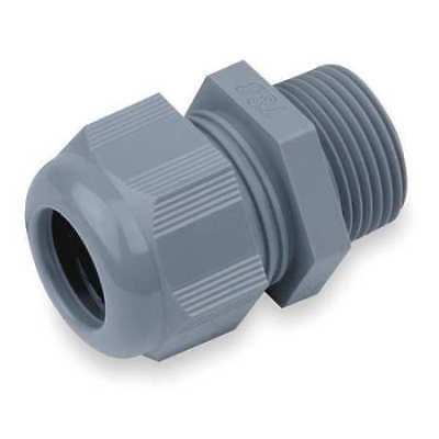 Liquid Tight Connector,3/8 in.,Cord,Gray THOMAS & BETTS CC-NPT-38-G