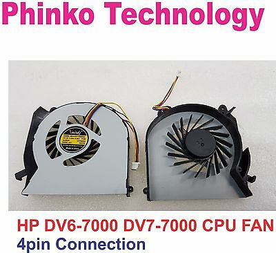 BRAND NEW CPU Cooling Fan for HP Pavilion DV6-7000 4 pin connector