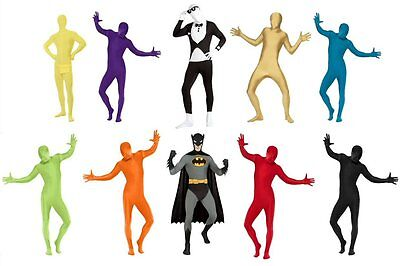 2nd Second Skin Tight Body Suit Zentai Halloween All In One Fancy Dress Costume