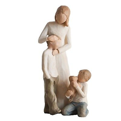 Willow Tree Mother with Two Sons Figurines New in Gift Boxes  22806
