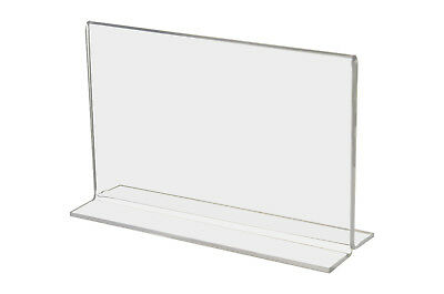 """Bottom Loading 5"""" x 3"""" Clear Acrylic Sign Frames For Counter Top"""