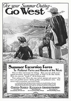 1919 UNITED STATES RAILROAD ADMINISTRATION SUMMER EXCURSION TO THE WEST AD