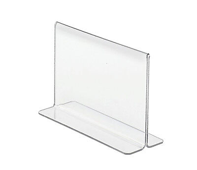 """6""""W x 4""""H Double-sided, Bottom Loading Table Sign Holder"""