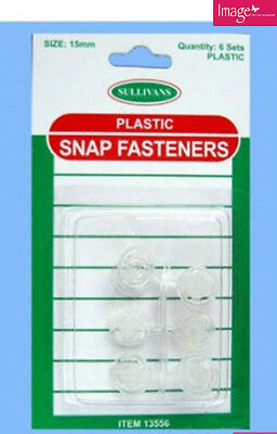 Pack of 6 sets of Plastic Snap Fasteners Clothing Accessories KD33556