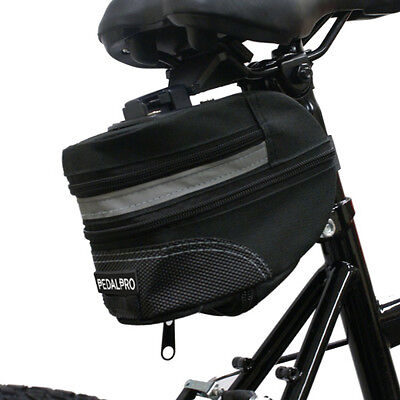 Pedalpro Bicycle/bike/cycle Large Saddle/seat Wedge Bag & Qr Mounting Bracket