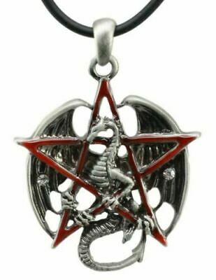 Pentagram Dragon Star Gothic Pendant Necklace Fashion Jewelry Accessory