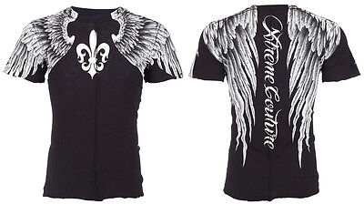 XTREME COUTURE by AFFLICTION Mens T-Shirt AEROSMITH Wings Tattoo Biker UFC $40
