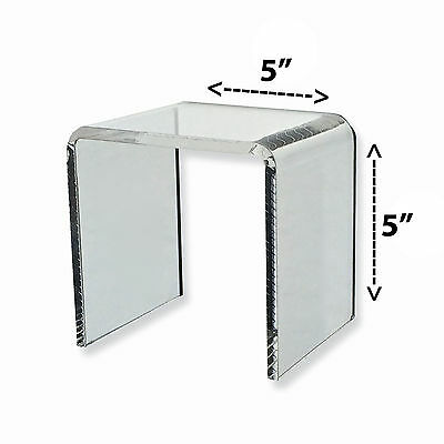 Acrylic Clear Square Riser Display Stand 5 x 5 x 5
