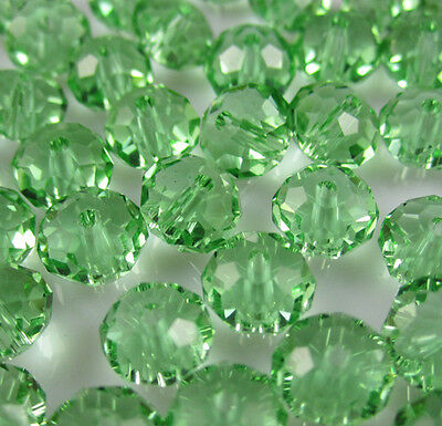NEW Jewelry Faceted 30pcs Geen #5040 6x8mm Roundelle Crystal Beads DIY