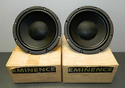 """VINTAGE EMINENCE  8"""" WOOFER 60 WATT RMS 4 OHM - NEW IN THE BOX - 1 PAIR"""