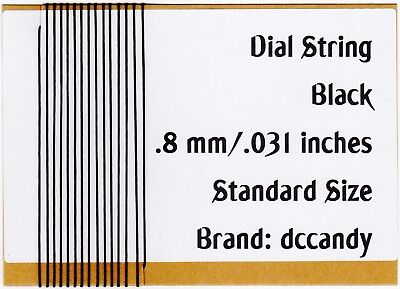 12 Ft Radio Dial Cord BRAIDED Nylon String .8mm for Vintage Radio Tuner Black