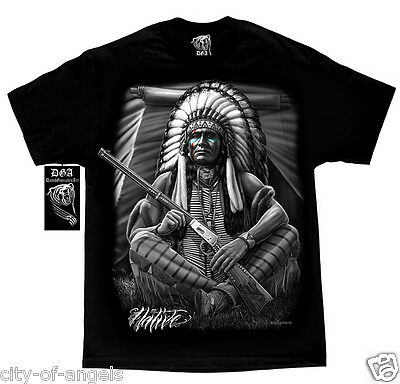 Native American Indian Chief Tribal Apache T Shirt DGA David Gonzales Art