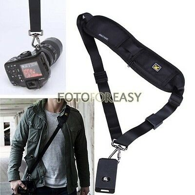 Black Single Shoulder Sling Belt Strap for DSLR Digital SLR Camera Quick Rapid
