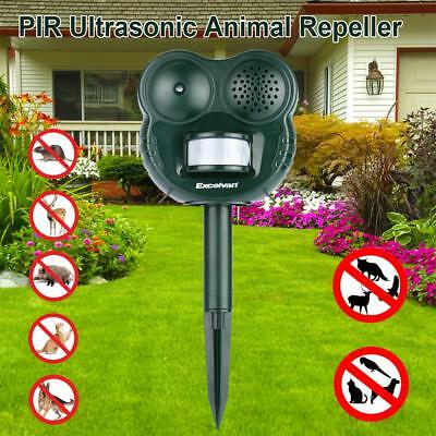 Ultrasonic PIR Motion Sensor Animal Bat Bird Repeller Deterrent Repellent Garden