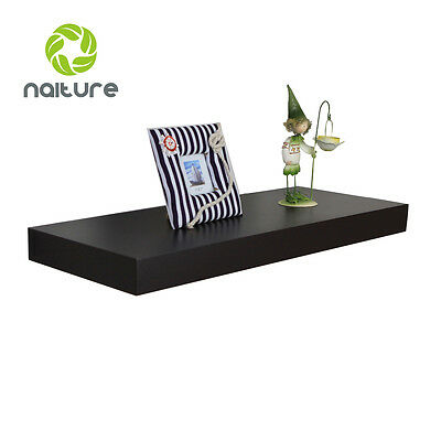 """10""""D x 2""""T Floating Wall Shelf in Black,Espresso & White,10,24,36,48 and 60""""Long"""