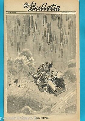 NORMAN LINDSAY POLITICAL CARTOON FROM THE BULLETIN  April 1, 1943, SHOWERS