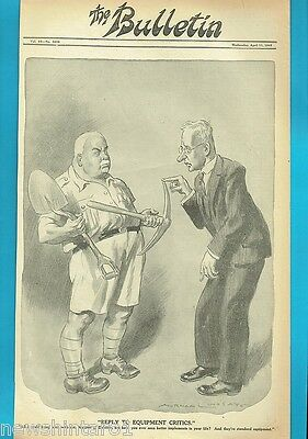 NORMAN LINDSAY POLITICAL CARTOON FROM THE BULLETIN  April 11, 1945,  SHORTAGES