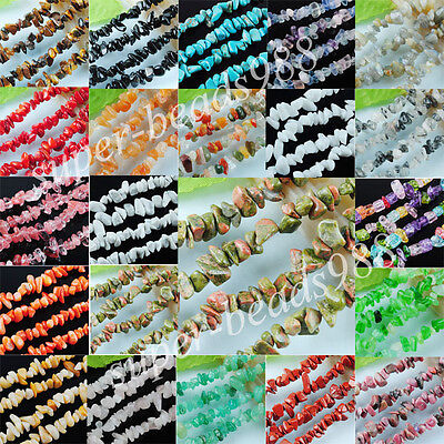"""Natural Opal Gold Sand Tiger's Eye Chips Gem Beads Strand 35 """" Jewelry SBG120"""