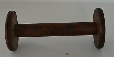 Sensational Huge Antique Wooden Weaving Spool Spindle Ii12
