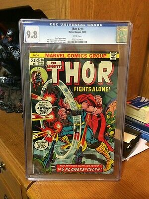 The Mighty Thor 218 Cgc 9.8 White Pages