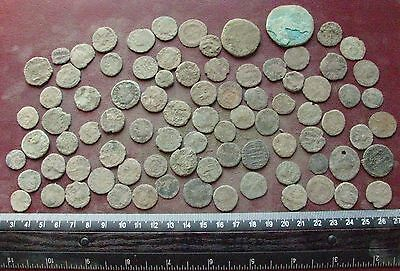 Lot of 85 Authentic Ancient Roman Coins   Mostly 3rd to 5th Centuries A.D. 12357