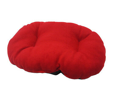 New!!!  Large Red Fleece Dog /  Cat Bed Cushion To Put In Bottom Of Basket