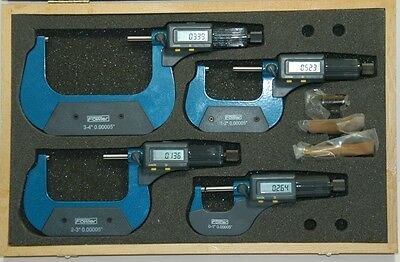 "Fowler 54-850-104 Electronic Micrometer Set 0-4"" BLOW OUT PRICE!"
