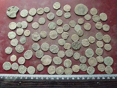 Lot of 85 Authentic Ancient Roman Coins   Mostly 3rd to 5th Centuries A.D. 12352