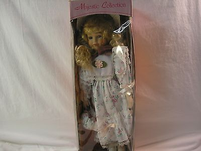 Majestic Collection Hand Painted Porcelain Doll In Original Box