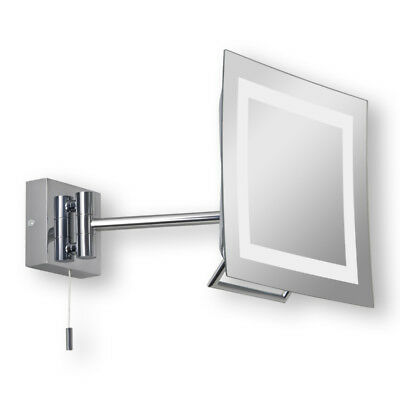 Astro Niro Plus Chrome Adjustable Bathroom Vanity IP44 Mirror w/ pull cord