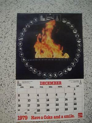 Coca-Cola 1979 - 1980 Olympic Games Calender Lake Placid, USA Moscow, USSR VGC