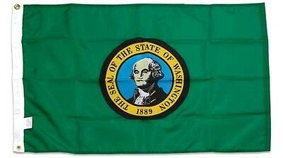 State of Washington 4x6 Foot Flag Banner (Heavy Duty 150D Super Polyester)