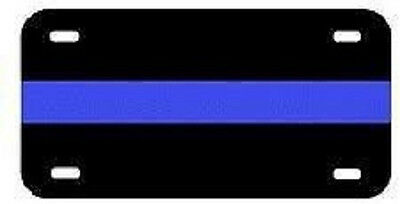 "Thin Blue Line Law Enforcement Police Lives 6""x12"" Aluminum License Plate Tag"