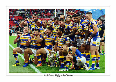 CHALLENGE CUP 2014 LEEDS RHINOS PHOTO PRINT A4 or 16 x 12 RUGBY WEMBLEY 4