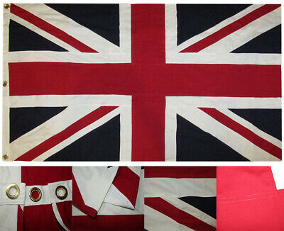 3x5 Embroidered United Kingdom UK England Great Britain 100% Cotton Flag 3'x5'