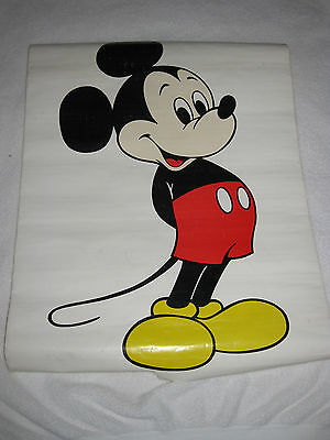 """Vintage Walt Disney Productions Mickey Mouse Lithograph Poster Print 18"""" x 24"""""""