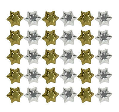 100 Silver And Gold Chocolate Stars - Wedding Parties Favours Christmas Hampers
