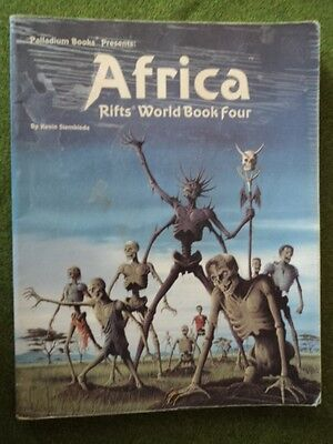 Africa Rifts World Book Four Palladium Books USED trade paperback