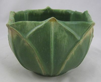 Ephraim Pottery Special Grueby Style Leaf Bowl Early Version