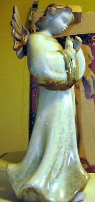 KIRKLAND'S   POTTERS GARDEN  *CERAMIC ANGEL* HAND PAINTED  10 1/2 INCHES TALL