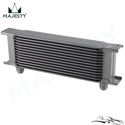Universal 13 Row AN10 Engine Transmission 248mm Oil Cooler  Silver