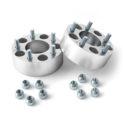 """2.5"""" inch   5x4.75 to 5x4.75 Hubcentric Wheel Spacers   12x1.5   Chevrolet"""